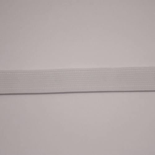 Elastique cotelé blanc 15 mm