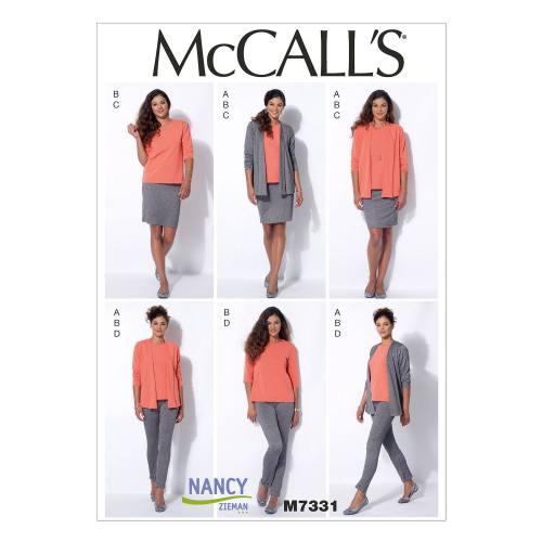 Patron Mc Call's M7331: Veste, Haut, Jupe et Pantalon Taille: 42-50