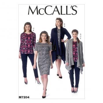 Patron Mc Call's M7331: Veste, Haut, Jupe et Pantalon Taille: 34-42