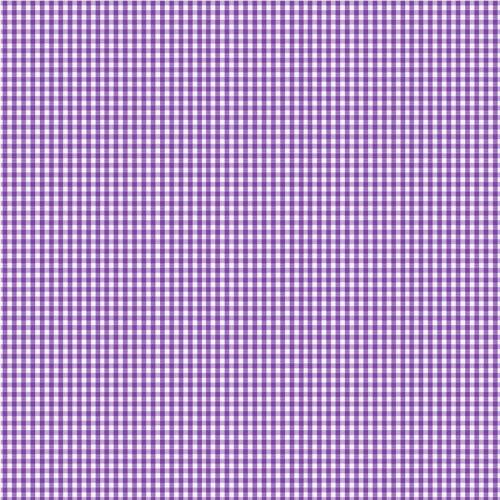 Coton vichy lilas 3 mm