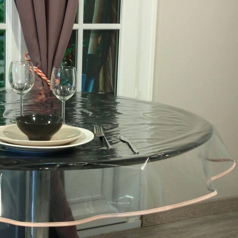 Cristal transparent pour nappes 80/100ème