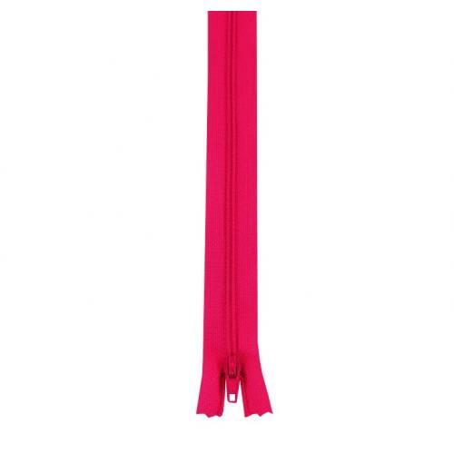 Fermeture polyester 45 cm non séparable fuchsia col 112