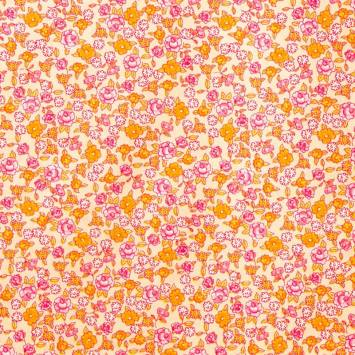 Coton fleurs sarina rose