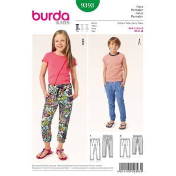 Patron Burda 9393 : Pantalon pour enfants Taille : 6 à 11 ans
