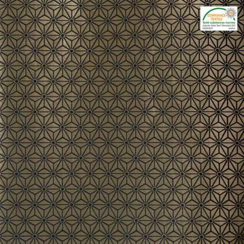 Jacquard or motif asanoha noir