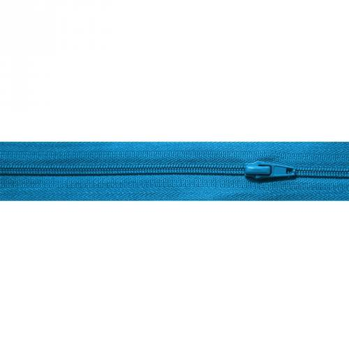 Fermeture à glissière au mètre bleue