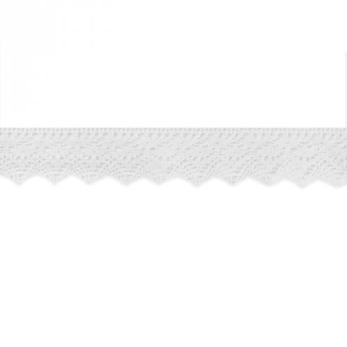 Ruban de dentelle coton blanc 38 mm