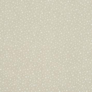 Coton taupe clair étoilé