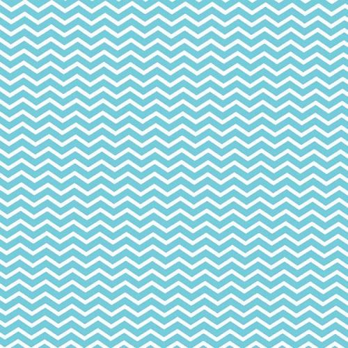 Coton chevron bleu turquoise