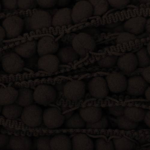 Galon pompon 15 mm chocolat
