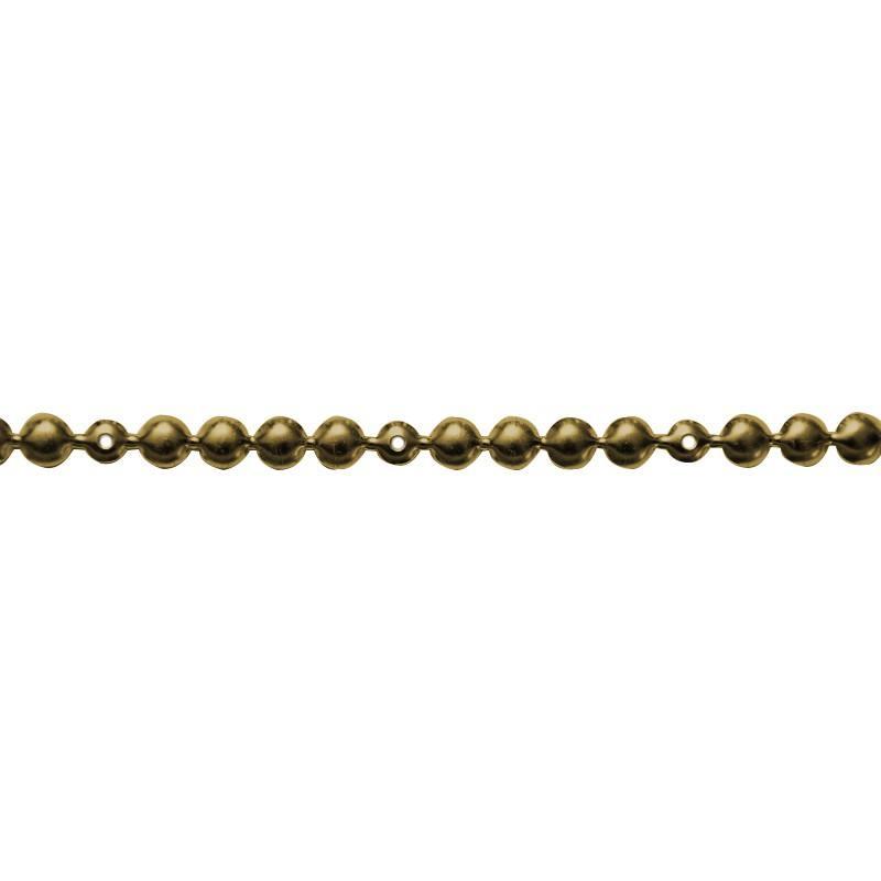 Bande de clous factices tapissier laiton 9,5 mm