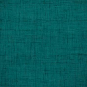 Coton aspect lin bleu canard