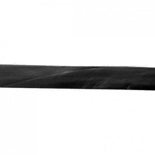 Biais replié simili cuir noir 20 mm