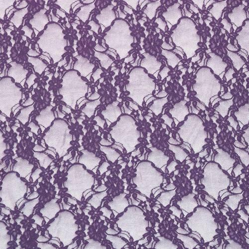 Dentelle extensible violette à petites fleurs