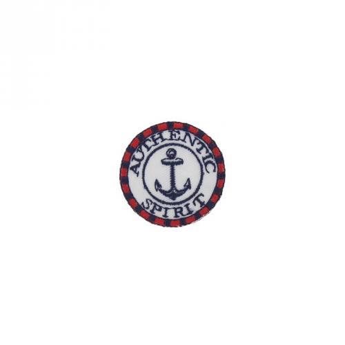 Ecusson blason thermocollant marin bleu, blanc et rouge