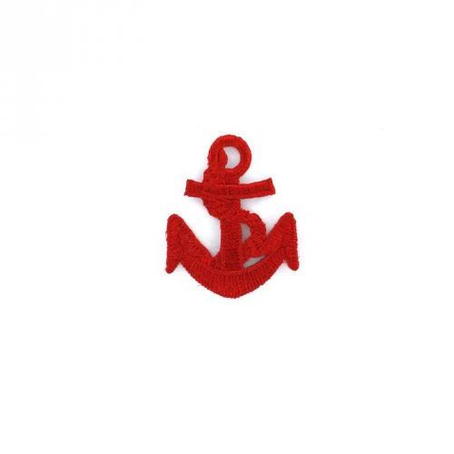 Ecusson blason thermocollant ancre marine rouge
