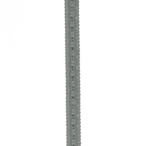 Galon fantaisie 10 mm gris