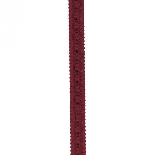 Galon fantaisie 10 mm rouge foncé