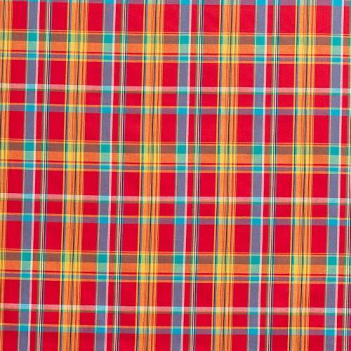 Coton madras rouge petits carreaux
