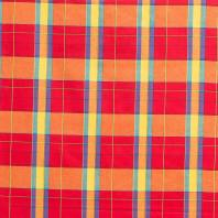Coton madras rouge