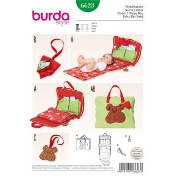 Patron Burda 6623 : Sac à langer