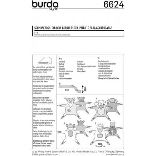 Patron Burda 6624 : Doudou