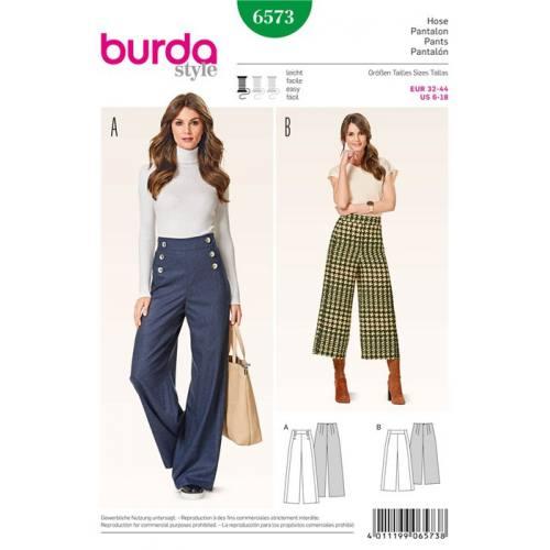 Patron Burda 6573: Pantalon Taille : 32-44