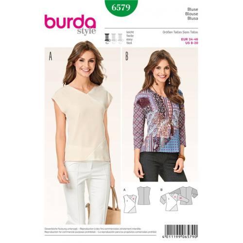 Patron Burda 6579 : Blouse Taille : 34-46