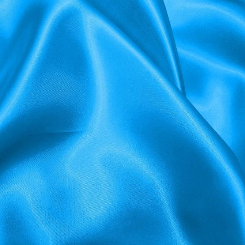 Satin uni bleu turquoise 150 cm