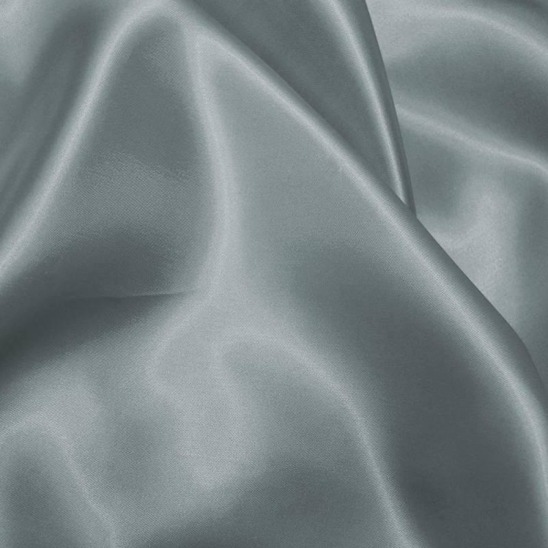 Satin uni gris 150 cm