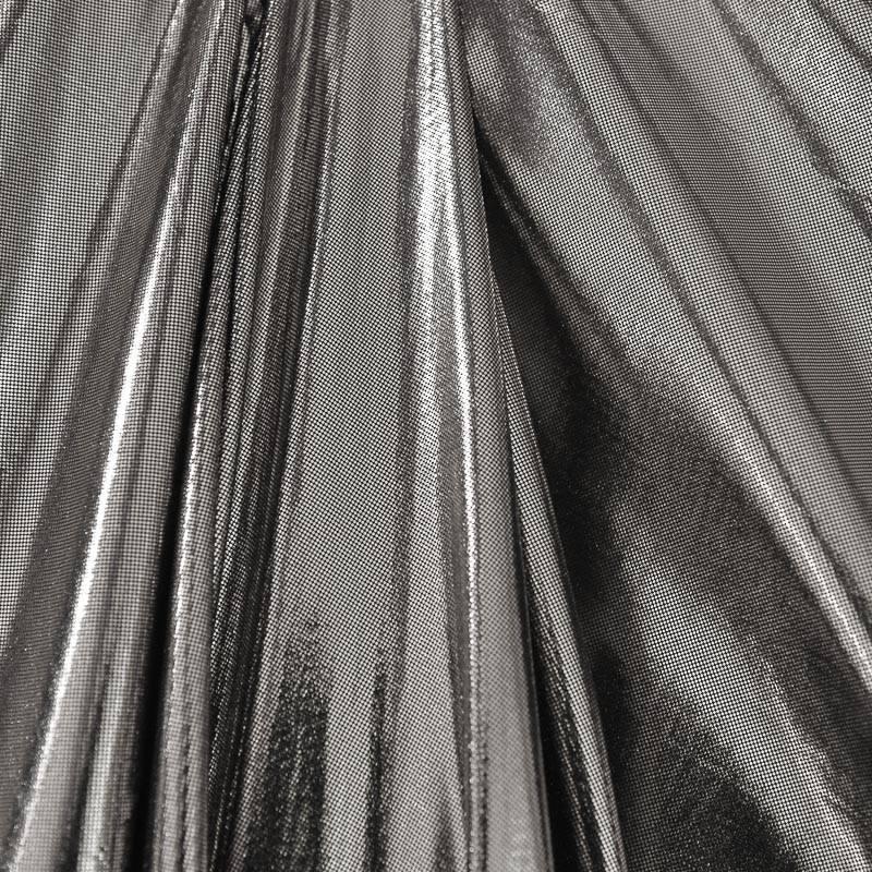 Tissu extensible lamé argent