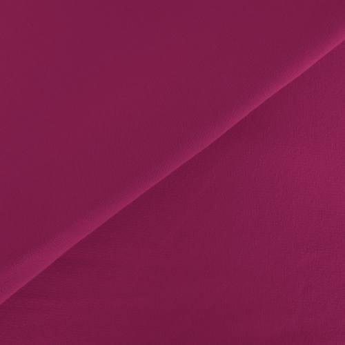 Tissu molleton uni fuchsia