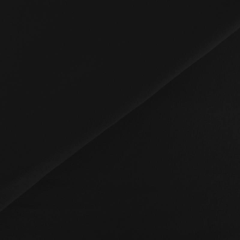 Tissu molleton uni noir