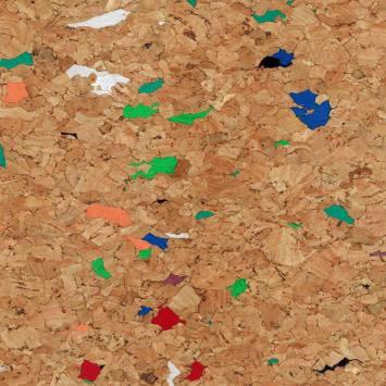 Tissu de liège multicolore