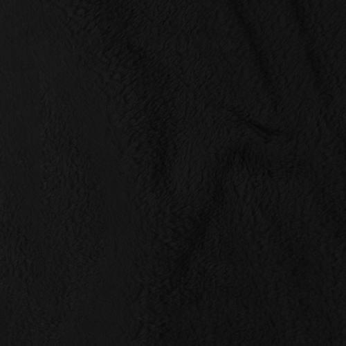 Tissu polaire microfibre noir 140 cm
