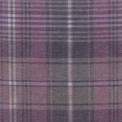 Toile d'ameublement vieux rose motif écossais