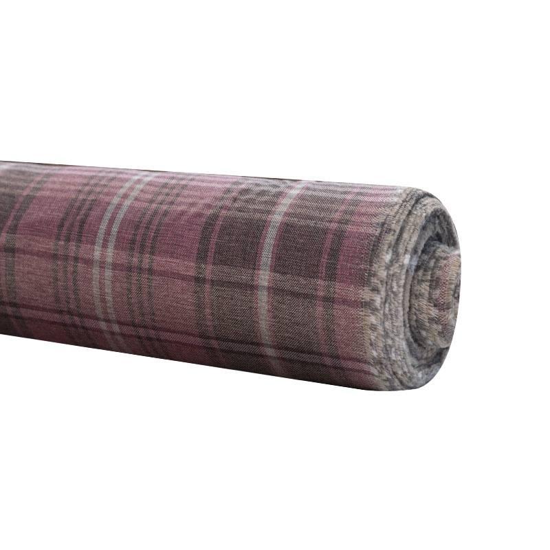 rouleau 30m toile d 39 ameublement vieux rose motif cossais pas cher tissus price. Black Bedroom Furniture Sets. Home Design Ideas