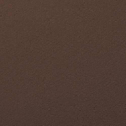 Coton uni marron foncé