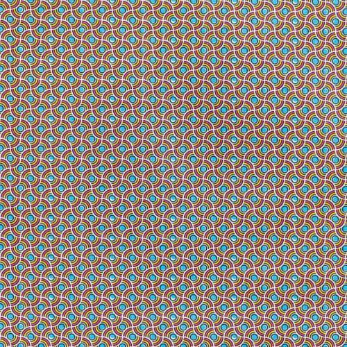 Coton rouge motif wax perle