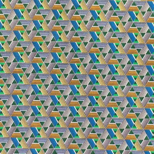 Coton vert motif wax papyrus