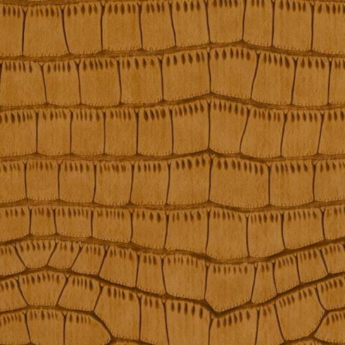 Simili cuir ocre à relief peau d'alligator