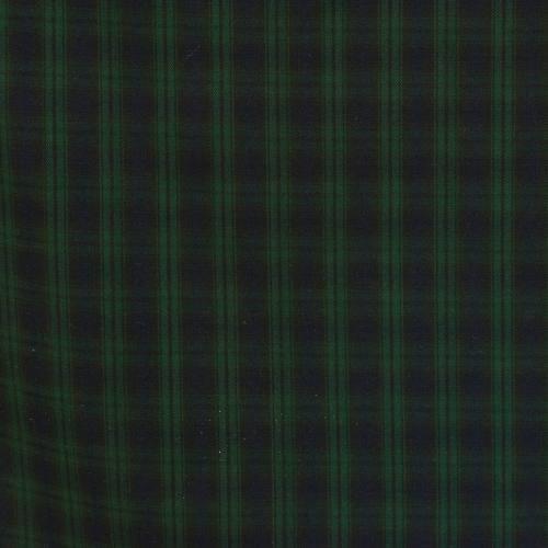 Tissu tartan bleu marine et vert