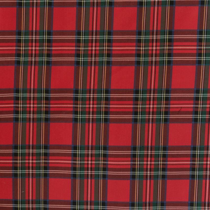 Tissu tartan rouge bleu et vert pas cher tissus price - Tissus rouge pas cher ...