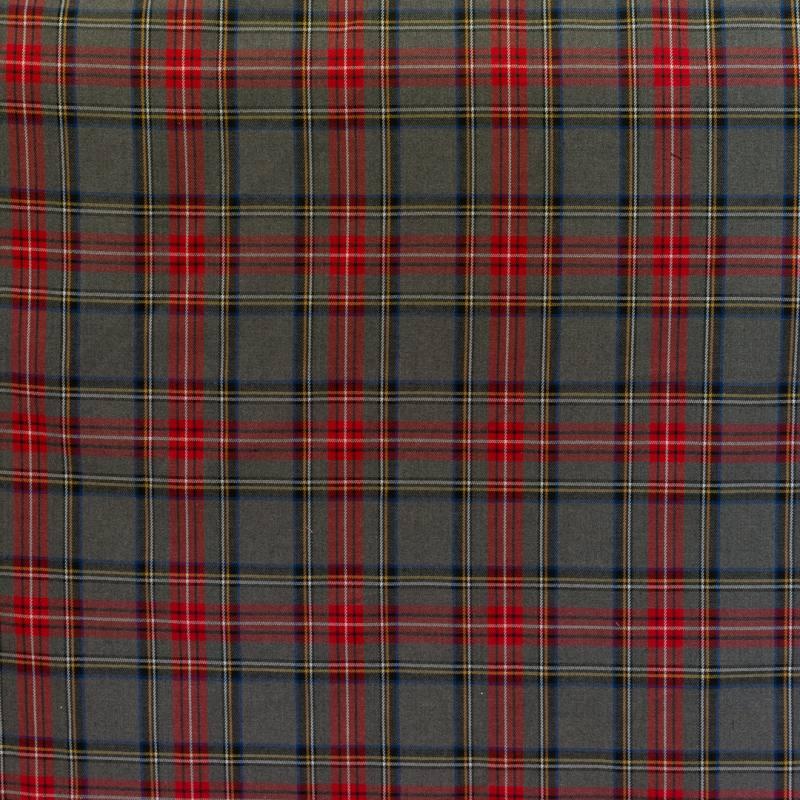 Tissu tartan gris noir et rouge pas cher tissus price - Rideaux au metre pas cher ...