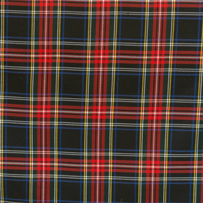 tissu tartan rouge jaune et noir pas cher tissus price. Black Bedroom Furniture Sets. Home Design Ideas