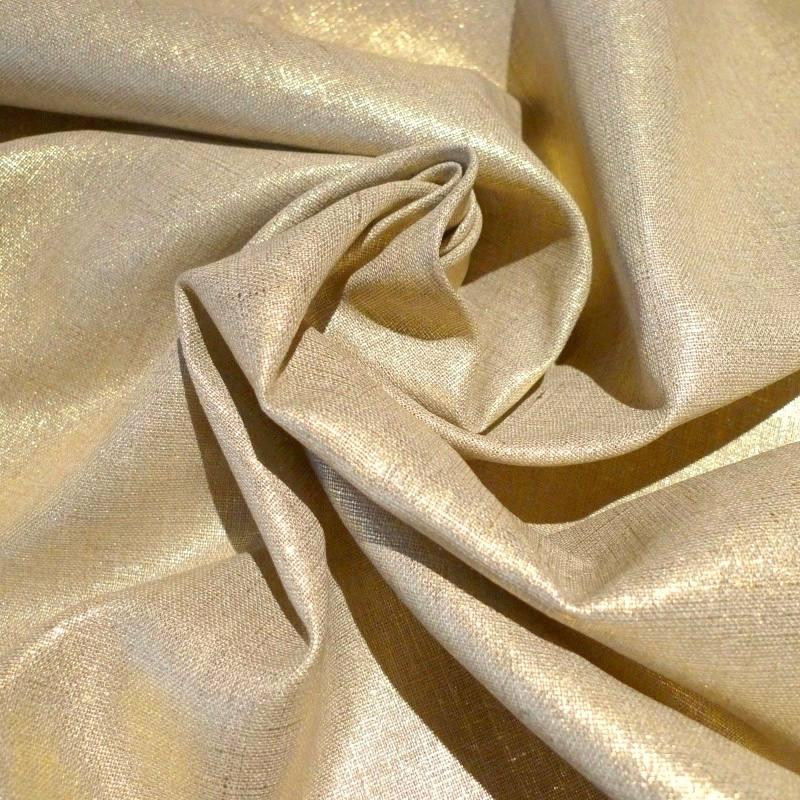 lin lurex or pas cher tissus price. Black Bedroom Furniture Sets. Home Design Ideas