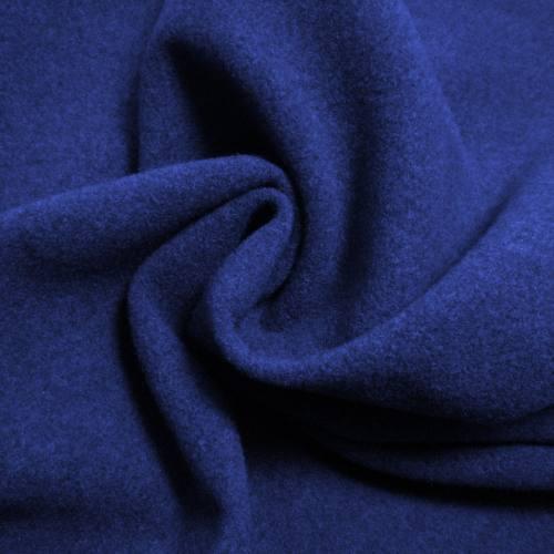 Tissu caban uni bleu roi
