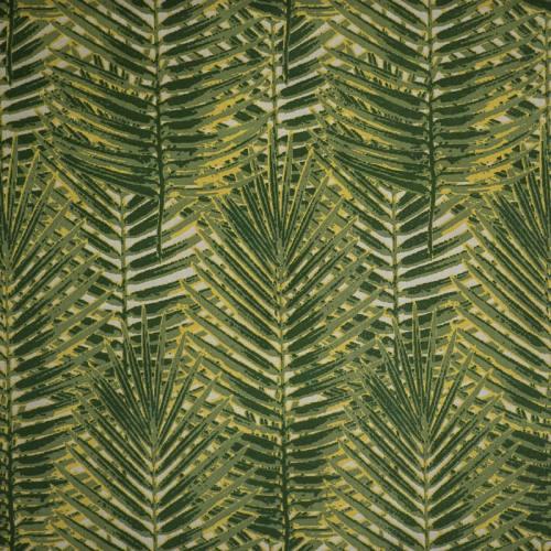 Coton vert imprimé jungle