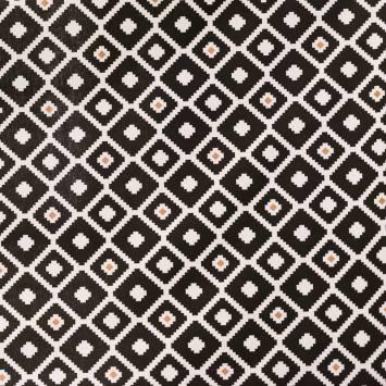 tissu coton noir et blanc pas cher au m tre tissu pas. Black Bedroom Furniture Sets. Home Design Ideas