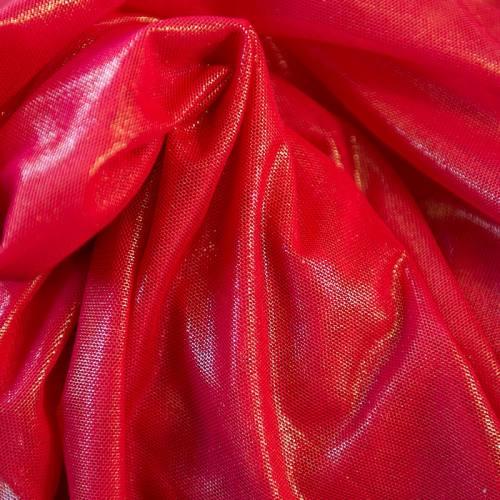 Résille extensible rouge lurex
